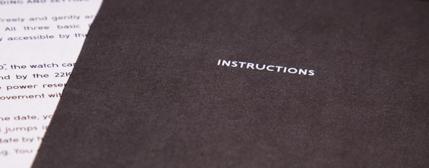 Watch instructions