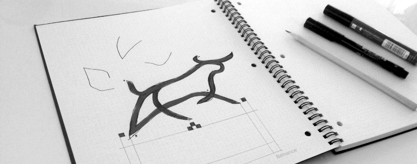 Logo design sketch process for Brokers